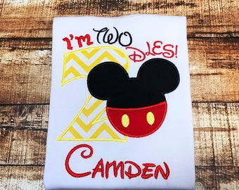 I'm Twodles Mickey Mouse 2nd Birthday Tshirt