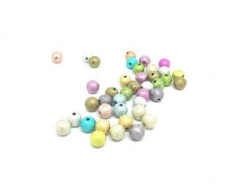 300 8mm multi-colored Stardust beads