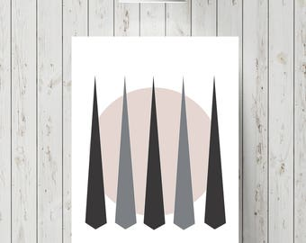 Abstract forest wall picture/printable