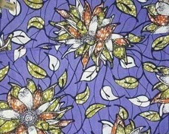 African print by wholesale / kitenge fabrics / ankara fabric/ colorful fabrics/ cotton fabric / purple white patterns /6 yd/ African fabric