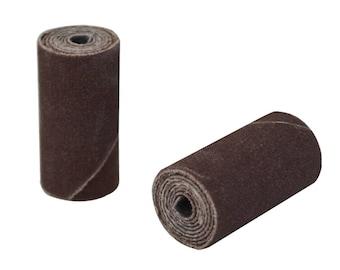 "25/Pk 1"" x 1/2"" Fine 180 Grit Aluminum Oxide Cartridge Rolls Jewelry Making Metal Polishing Abrasives - 11.01270"