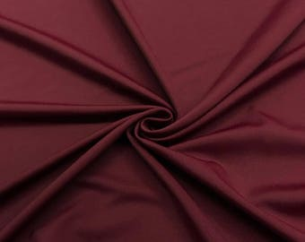 "Wine Lycra Matte Milliskin Nylon Spandex Fabric 4 Way Stretch 58"" wide Sold By The Yard"