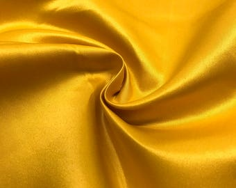 "Gold Matte Satin (Peau de Soie) Duchess Fabric Bridesmaid Dress 60"" Wide Sold BTY"