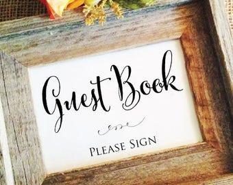 Wedding please sign wedding sign wedding decor wedding guest book sign (Frame NOT included)