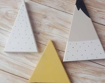 Scandi inspired wooden peaks (set of 3)
