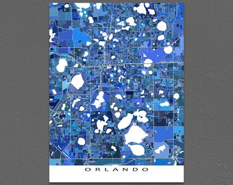 Orlando Map Print, Orlando Florida, US City Map Art Poster