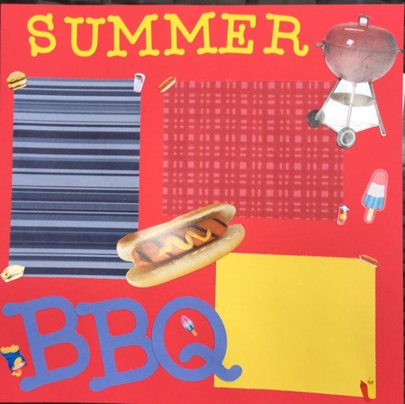 Scrapbooking: Summer BBQ, 12x12 Premade Scrapbook Page
