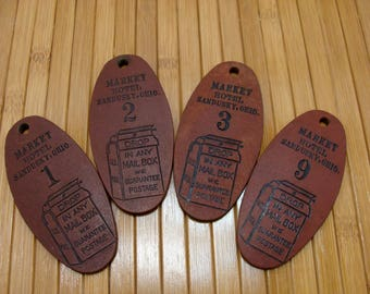 Vintage hotel room key fob lot-old hotel room keychain-market hotel sandusky ohio key fob-old hotel key fob-vintage motel key chain