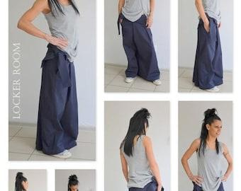 ON SALE Low crotch pants / Loose cotton pants / Drop crotch pants / Extravagant trousers