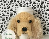 Dog Patterns to Crochet, Cocker Spaniel Mug Cozy Pattern, Dog Cozies Crochet Patterns, Cocker Spaniel Pattern, Crochet for Dogs Pattern