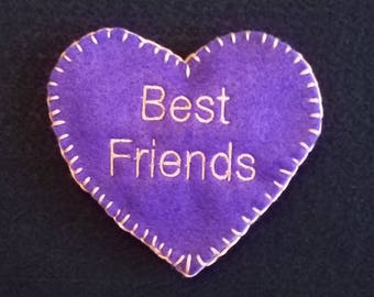 "Heart Cookie ""BEST FRIENDS"""