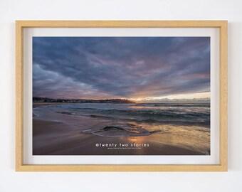Violet Sunrise Print, Bondi Beach, Sydney.