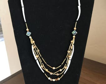 Dentalium shell & beaded Necklace