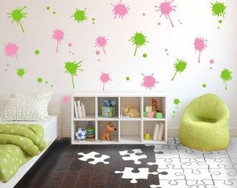 Splatter Wall Decal Etsy - Make custom vinyl wall decalsvinyl wall decal sticker paint dripping s wall decals attic