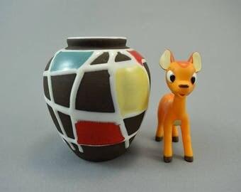 Vintage vase made by Schlossberg / 32 / Decor Kuba | West German Pottery | 50s
