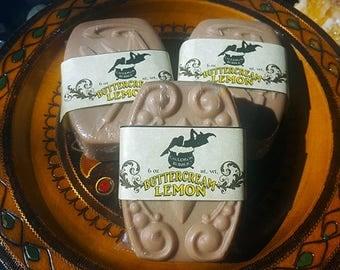 Buttercream Lemon - Vegan Glycerin Goat's Milk Soap - Love Potion Magickal Perfumerie