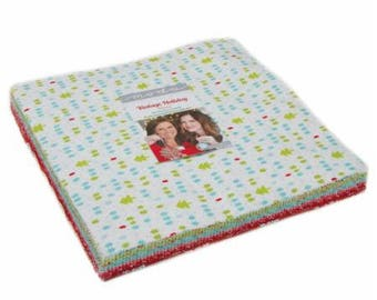 FLANNEL Layer Cake Vintage Holiday by Bonnie and Camille for Moda- 42 Fabrics