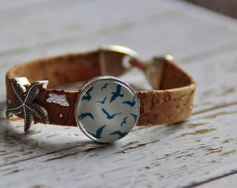 Cork bracelet and Gull Cork bracelet