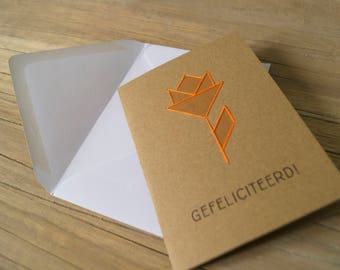 Greeting cards tangram 3-pack