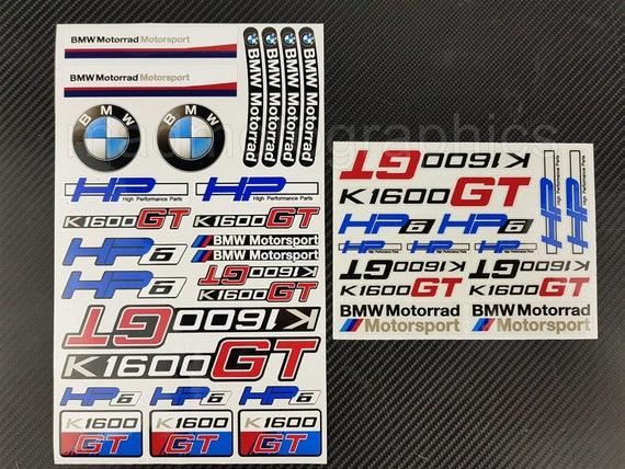 bmw motorrad k1600gt hp6 two decal sheets set 41 stickers. Black Bedroom Furniture Sets. Home Design Ideas