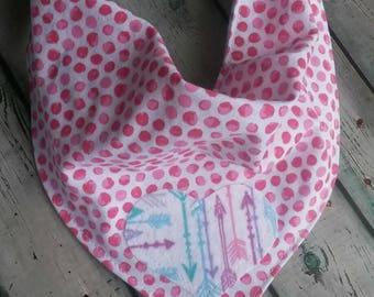 Pink Polka Dot Valentine's Day Bandana Bib
