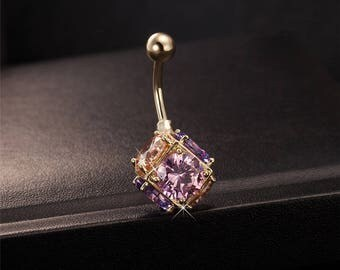 Belly Button Ring Colorful Ball
