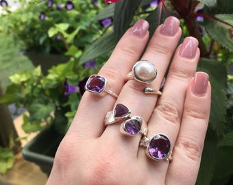 Amethyst ring/7.5