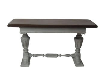 Jacobean Style Console Table Gustavian Grey Refrectory Table Sofa Foyer Console Table Distressed Gray Desk