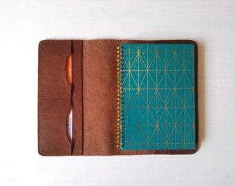 Leather notebook cover, classic notebook case, retro leather cover case for moleskine