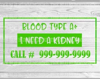Kidney SVG File, Kidney Transplant SVG, Kidney Donor, Transplant Recipient, Cancer Awareness, Kidney Disease, Disease Awareness