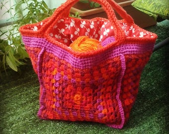 tutti frutti granny crochet bag