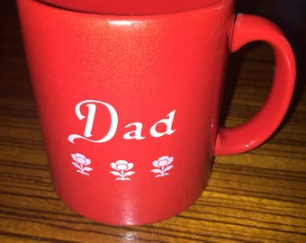 "Vintage Waechtersbach ""Dad"" You are special today red coffee mug **MINT**"