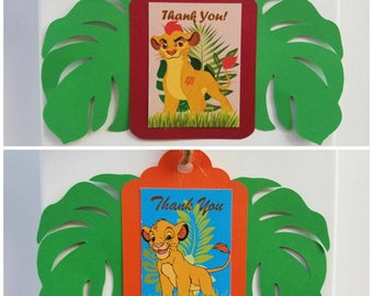 Lion Guard Favor Tags, Lion King Favor Tags, Lion Guard Tags, Lion King Tags, Kion Favor Tags, Simba Tags (1 set of 12)