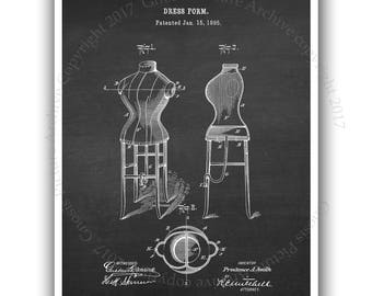 Back to School Fashion Designer Dorm Room Wall decor Fashion wall art unframed Dress Form invention diagram Dress Form patent print#4