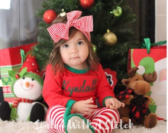Christmas Pajamas - Personalized Pajamas - Toddler Pajamas
