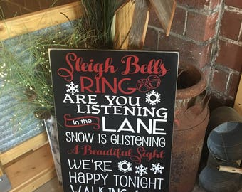 Sleigh Bells Ring, Winter Wonderland, Christmas Decor