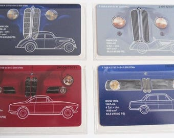 Mobile BMW Tradition - Pioneering Years of the Automobile - 4 German Phonecards - Folder - 1993 - Telefonkarte