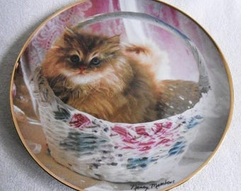 Beautiful collectible-Cats-Franklin Mint-Bundle of joy-Nancy Matthews-Vintage CAT/cats collector plate
