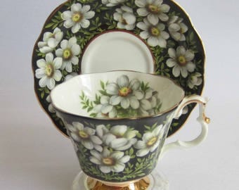 Royal Albert Provincial Flowers Mountain Avens Bone China Tea Cup and Saucer