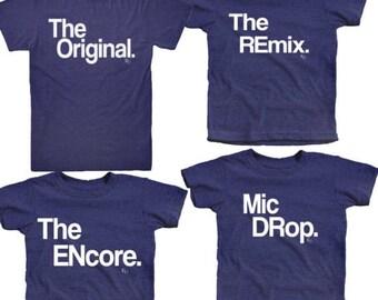 Camiseta original   Camiseta original   Juego familia camisetas   Encore Remix original   Artículo más Popular   Empuje actual   Música y moda