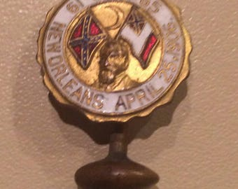 Vintage 1906 New Orleans Veteran's of the Civil War New Orleans pin