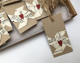 Windmill tags pinwheel tags rustic vintage wedding music sheet windmill wish tree favor favour tags