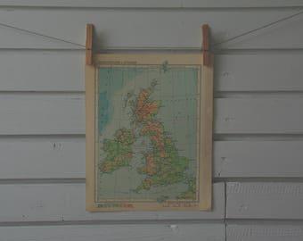 1956 Vintage United Kingdom & Ireland Map