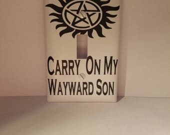 Supernatural light switch cover