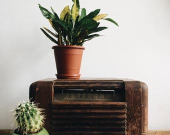 Vintage 1950's Wooden Decorative Brown Radio