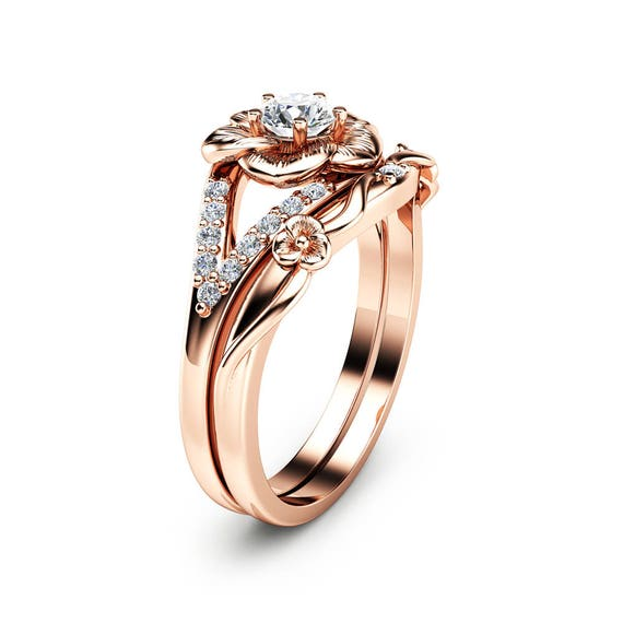 Notre ensemble de bague de fiançailles en diamant naturel