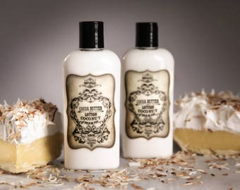 Organic Coconut Cream Pie Lotion / Cocoa Butter Lotion / Lotion / Vegan Lotion / Organic Lotion / Scented Lotion / Moisturizer / Lotions