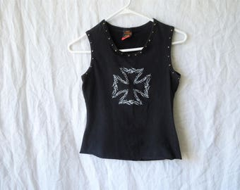SALE 90s Barbed Wire Studded Tank Top