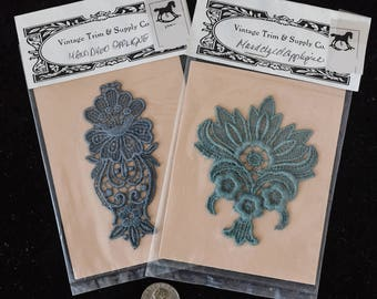 Applique - Hand-dyed Lace Trim (4 in.)