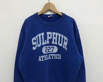 20% OFF Vintage Champion Sulphur Athletics Sweatshirt/Champion Sweater/Champion C Logo/Champion Clothing/Champion Spellout
